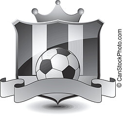 Heraldic soccer emblem