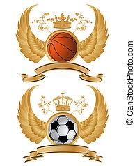 Heraldic sport pattern