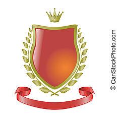 heraldic symbols, vector shield