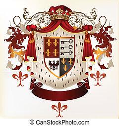 Heraldic vector element with coat - Vector heraldic...
