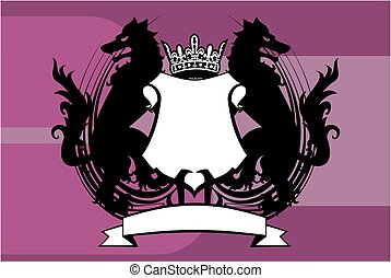 heraldic wolf coat of arms crest background