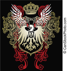 heraldický, orel, symbol