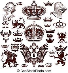 heraldik, elementara, sätta