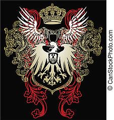 heraldisch, adelaar, embleem