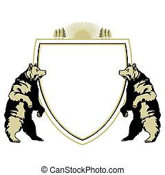 heraldisch, dier, beer