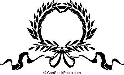 heraldisch, krans, black , communie