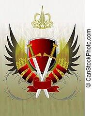 heraldisch, ontwerp, (vector)
