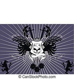 heraldisch, schedel, background8