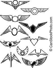 heraldisch, set, emblems