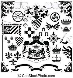 heraldisch, set