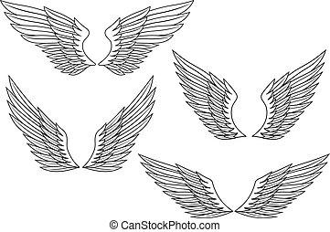 heraldisch, vleugels