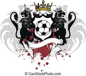 heraldisch, voetbal, crest1, leeuw