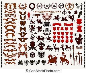 heraldisk, elementara, design
