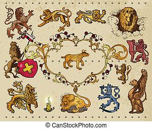 heraldisk, elementara