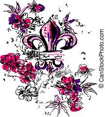 heraldisk, kunglighet, inbillning, illustration