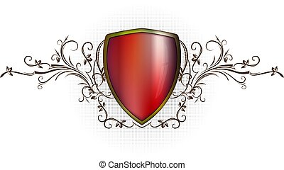 heraldisk, skydda, bakgrund