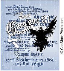 heraldry shirt printed - illustration for shirt printed and...