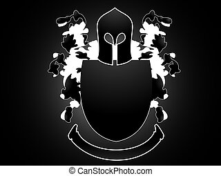 Heraldry with flowers - An Heraldry figure with floral...