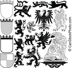 heraldyczny, elementy, królewski