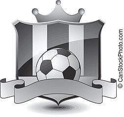 heraldyczny, piłka nożna, emblemat