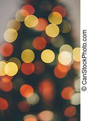 heraus, baum, fokus, weihnachten