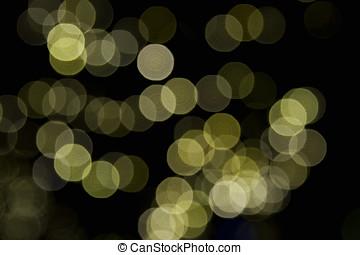 heraus, von, fokussiert, weihnachtsbeleuchtung