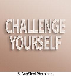 herausforderung, sich