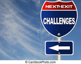 herausforderungen, straße zeichen