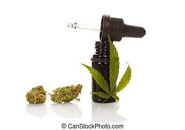 herbário, médico, marijuana, remedy.