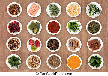 Herb and Spice Sampler - Large herb and spice sampler over ...