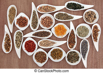 Herb and Spice Sampler - Large medicinal herb and spice...