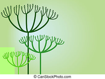 Herb background - Background with soft spice herbs like...