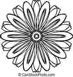 Herb bio flower icon, simple style