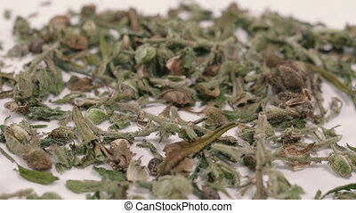 herb., drug., cannabis., marijuana, séché