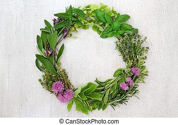 Herb Leaf Wreath