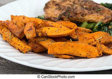 sweet potato fries side - herb sweet potato fries side