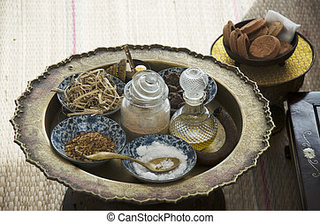 Herbal cosmetic skin care and massage spa ancient thai style