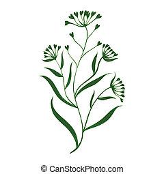 herbal decorative ornament