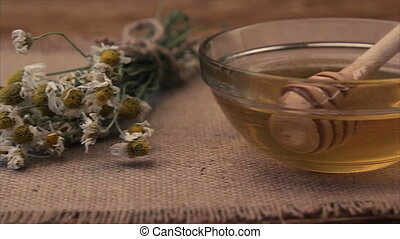 Herbal dried tea with honey