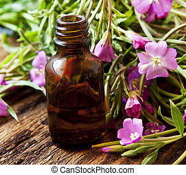 Herbal Essence Bottle, Essential Oil Bottle with Pink...