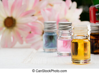 Herbal Essential Oils Mix with water to smell the aroma for natural healing.