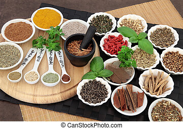 Herbal Health Ingredients - Herb and spice selection for men...