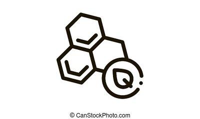 herbal honey Icon Animation. black herbal honey animated icon on white background