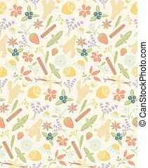 herbal ingredients pattern