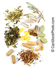 herbal, komplettere, pillerne