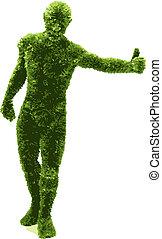 Herbal man (vector)