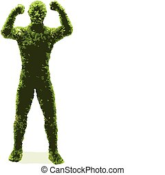 Herbal man (vector)