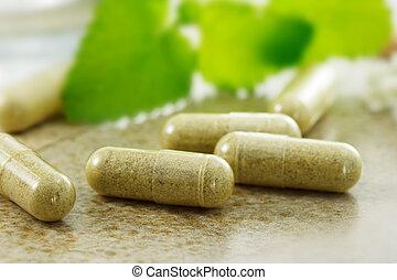 Herbal medicine - Close up image of herbal medicine