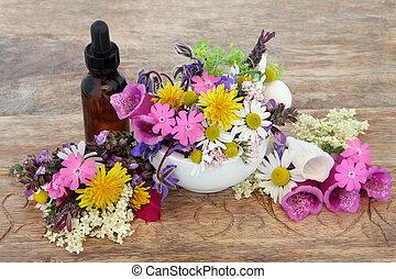 Herbal Medicine - Herbal medicine flower and herb selection...