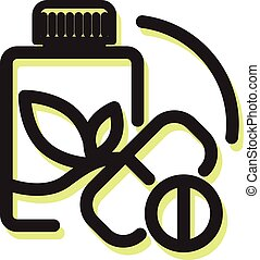 Herbal Medicine Icon as EPS 10 File